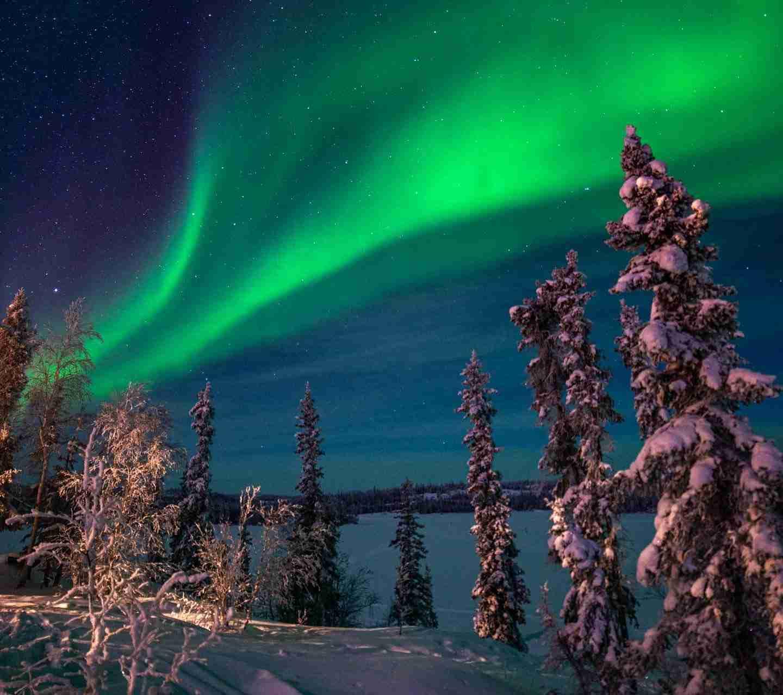 Northern Lights in Blackford lake lodge