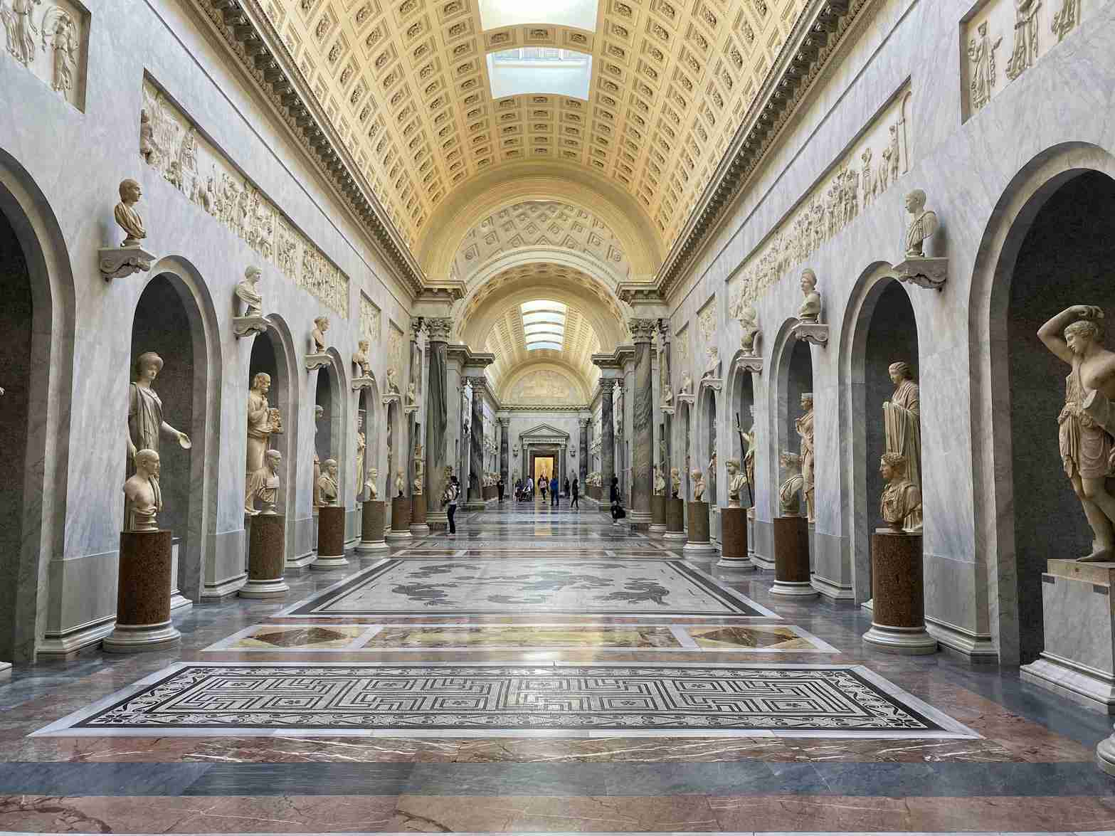 Interior of the Vatican Museum New Wing