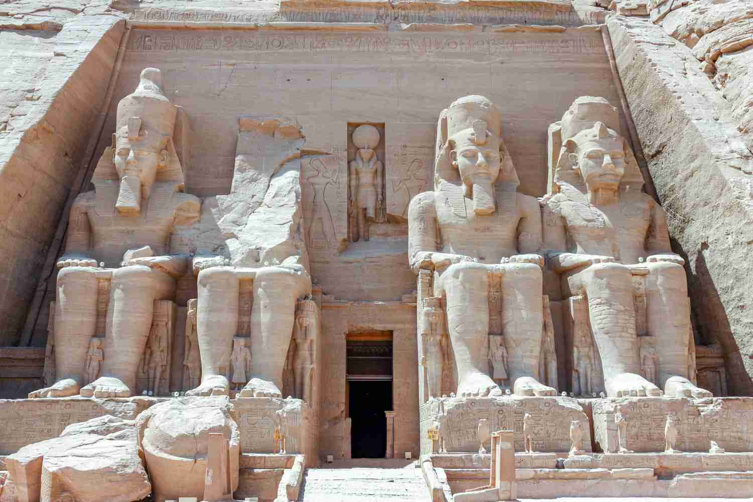 The Abu Simbel temples in Egypt